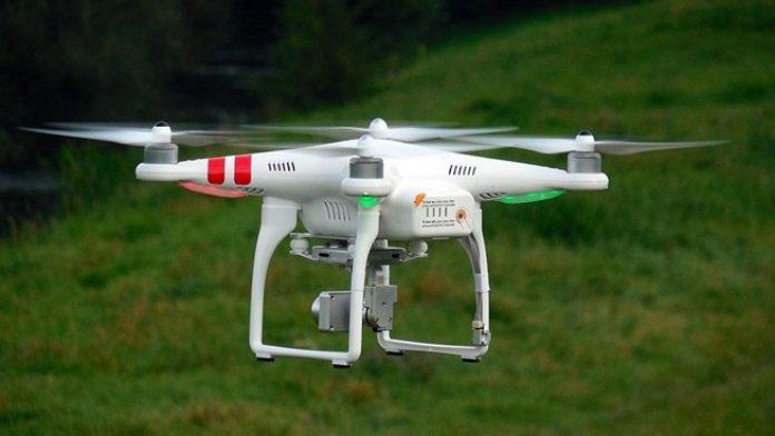 flycam canh gác biên giới